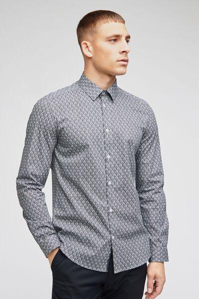 Chemise slim petits motif style cachemire coton