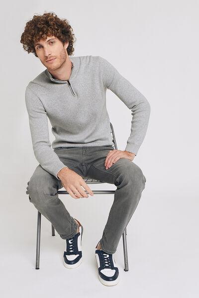 Jean straight #Ben 4 longueurs gris