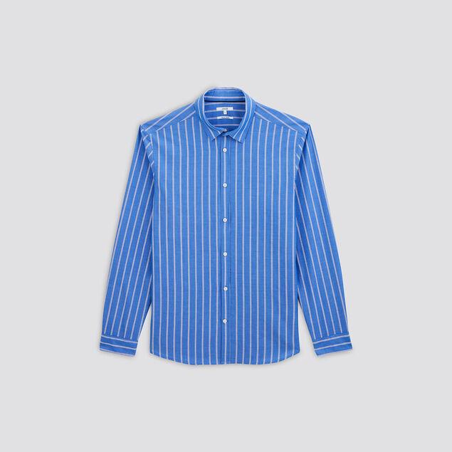 Chemise regular à rayures voile de coton