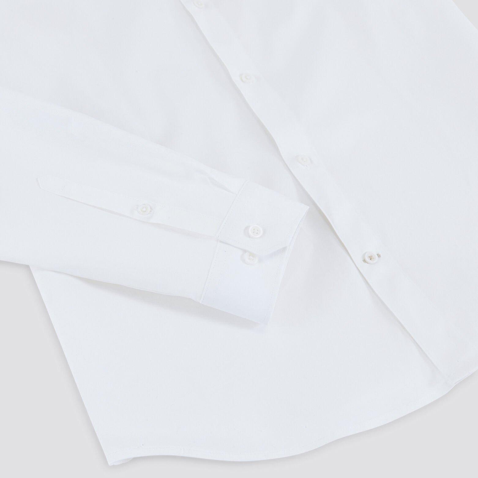 Chemise slim unie col mao coton