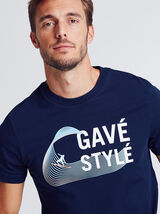 T-shirt met print van regio Aquitaine