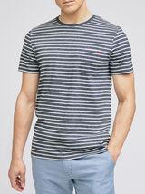 Tee-shirt marinière coton issu de l'agri bio
