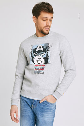Sweat imprimé licence MARVEL CAPTAIN AMERICA