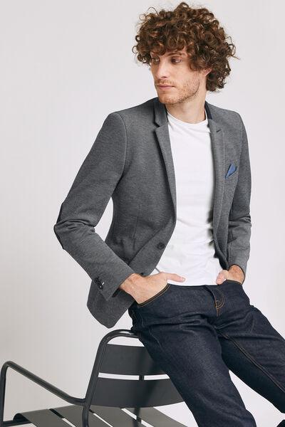 veste seule slim en maille avec coudières