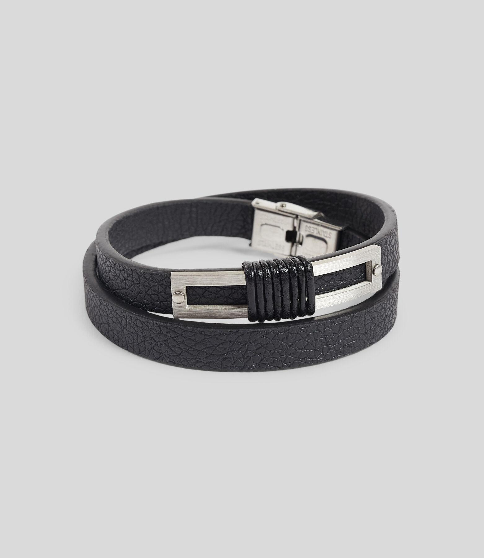 Bracelet homme avec détails en métal