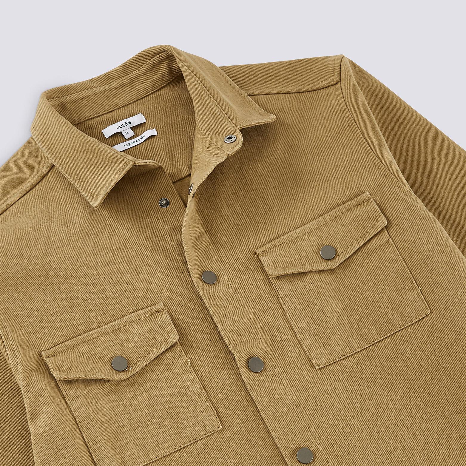 Surchemise regular avec poches plaquées twill coto