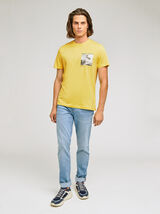 Tee-shirt print poitrine SURF coton iss de l'agri