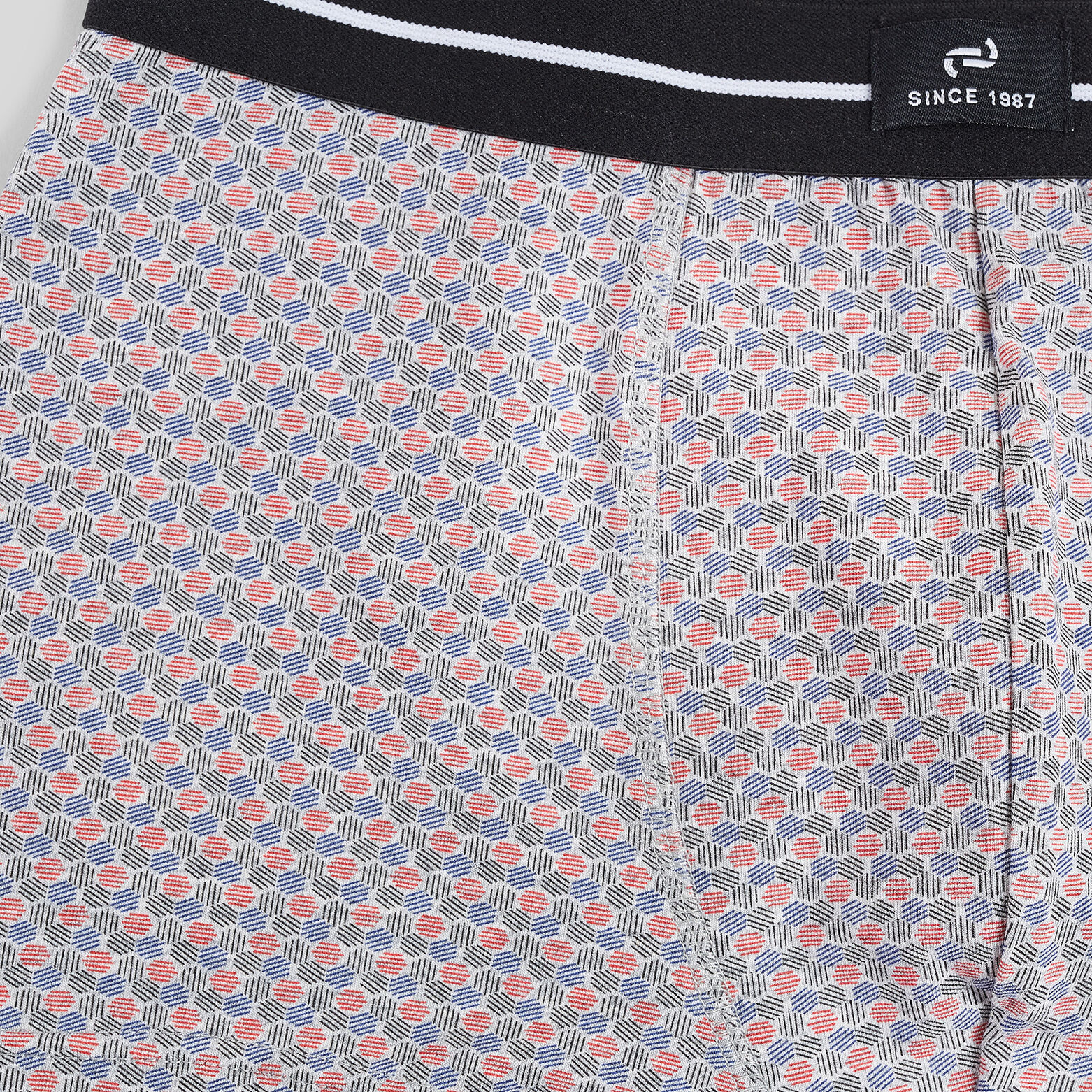 Boxer unitaire micro motif coton issu de l'agricul