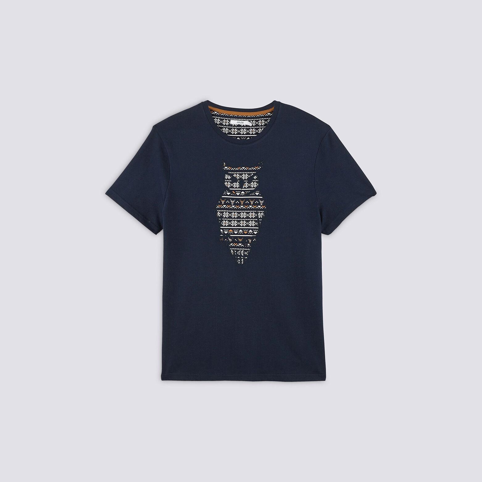 Tee shirt col rond hibou
