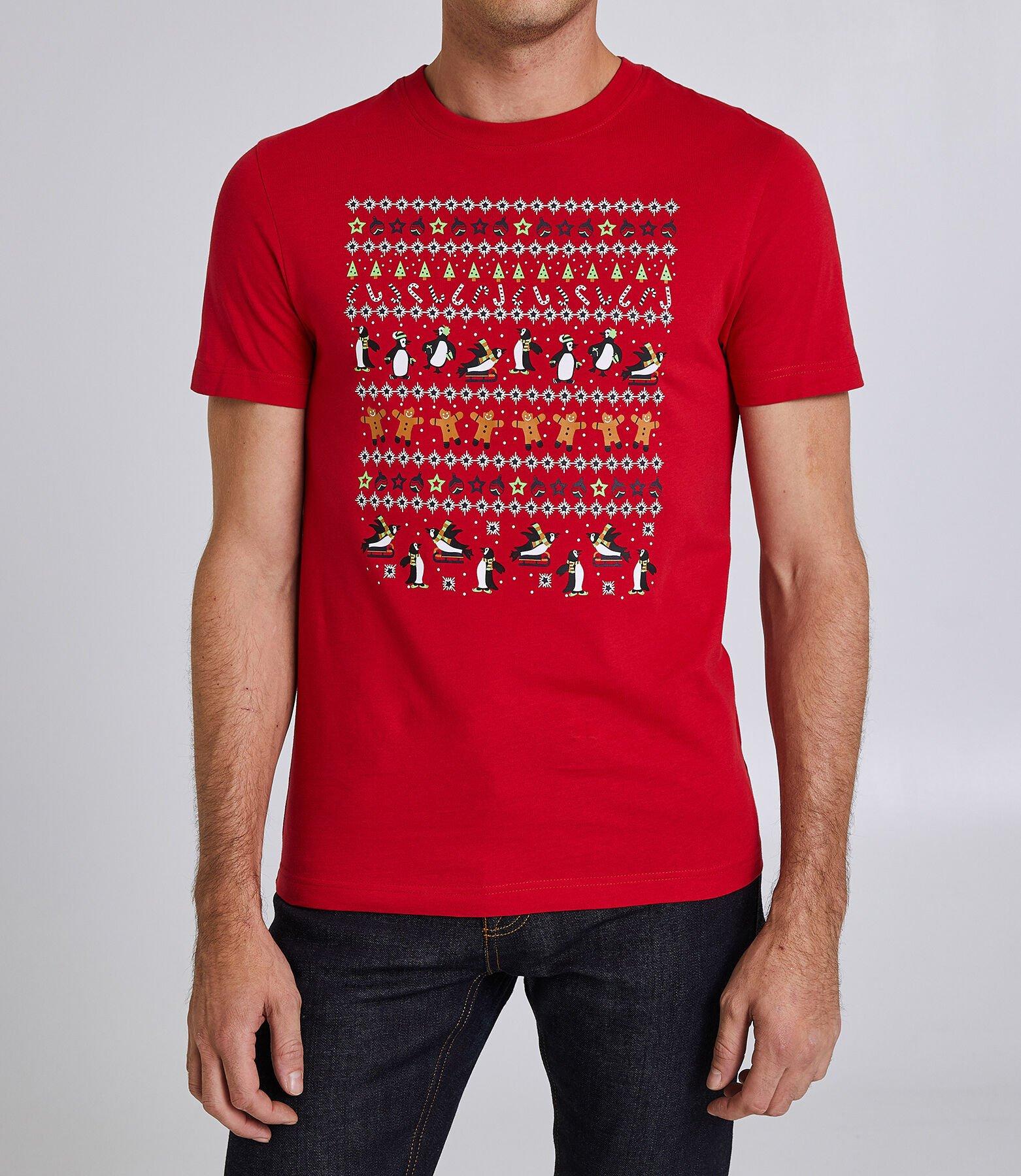 Tee shirt col rond motif Noël