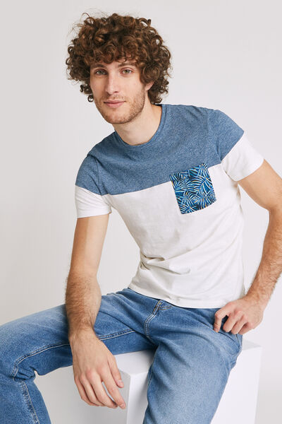 Colorblock T-shirt, zak met junglemotief