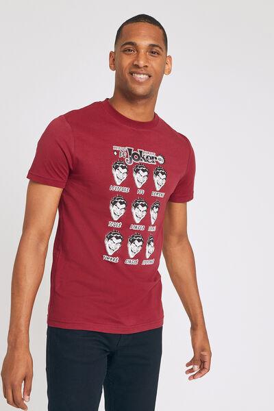 Tee shirt manches courtes imprimé JOKER