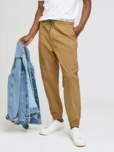 Pantalon chino ceinture et bas elastiquées