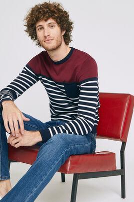 Jersey-trui, colorblock, met zak