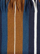 Écharpe homme en maille lignes multicolores
