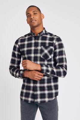 Regular hemd met ruitjes en button-downkraag