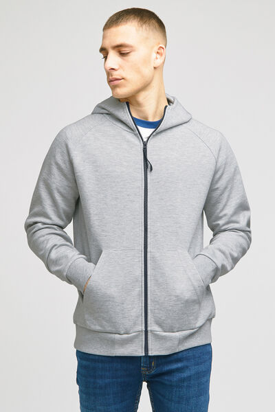 Sweat zippé à capuche