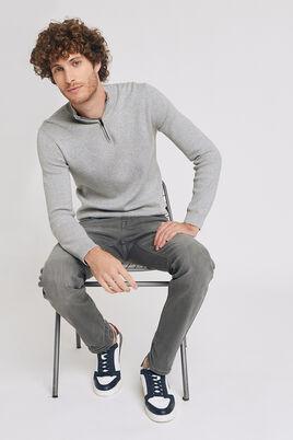 Jean Straight 4 longueurs gris lavé