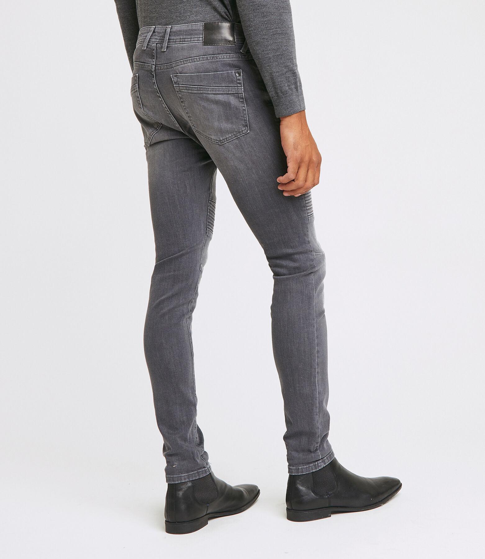 Jean skinny biker - gris