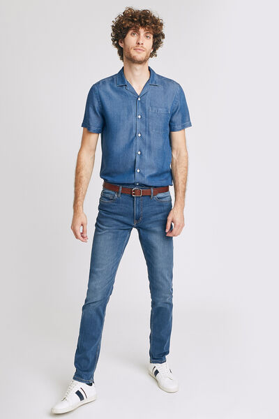 Jean slim #Tom urbanflex 4 longueurs bleu grisé