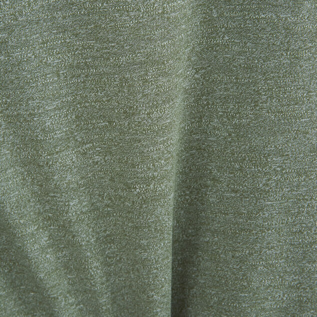 Tee-shirt col tunisien matière fantaisie details c