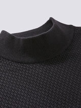 Pull col cheminée maille fantaisie