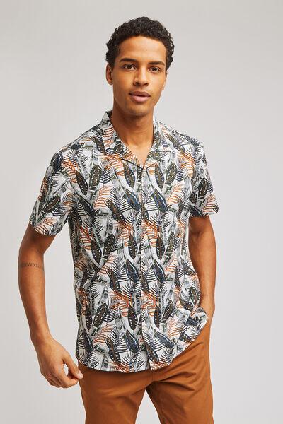 Chemise hawaïenne jungle regular coton