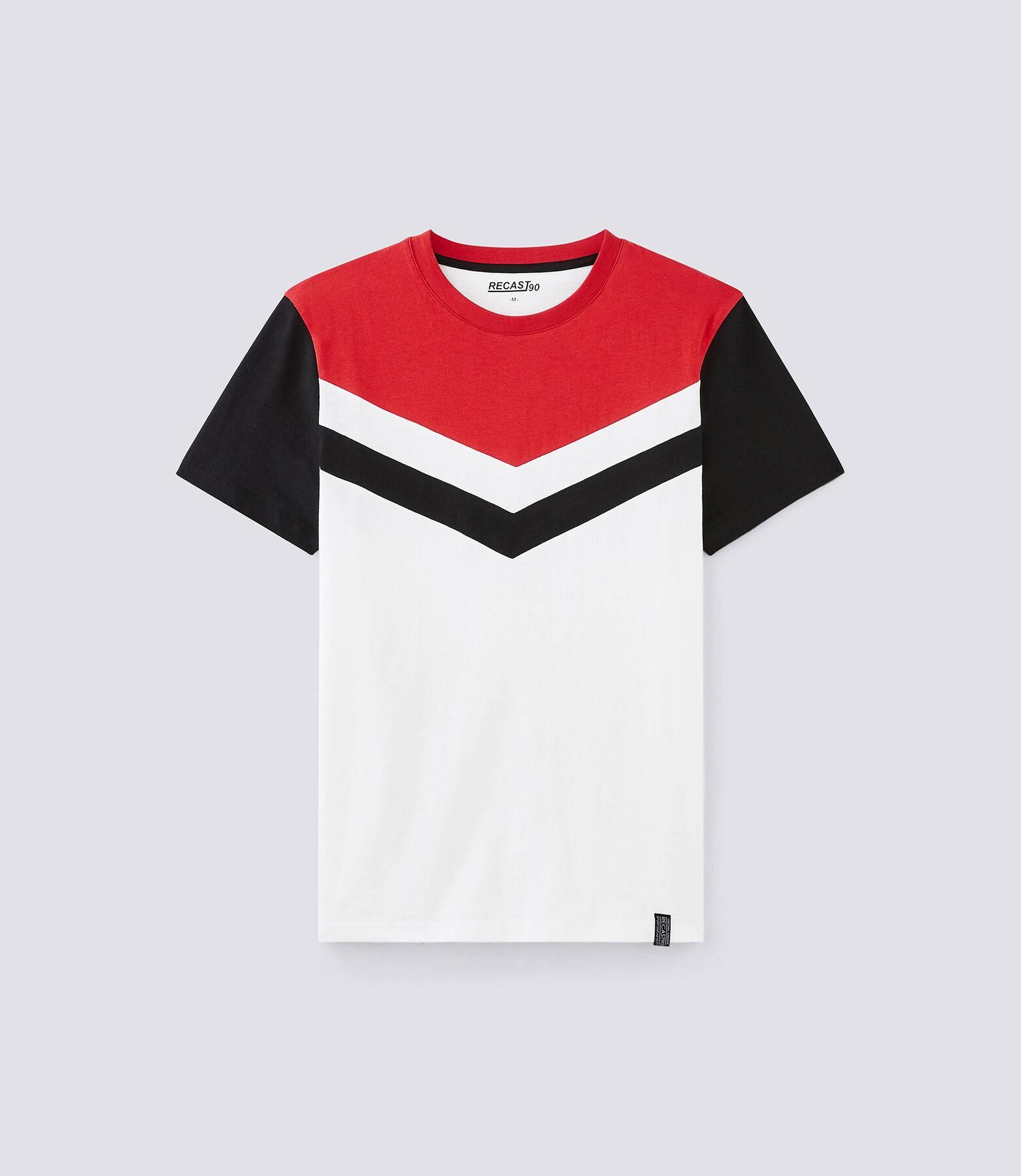 T-shirt met ronde hals, opdruk Recast 90