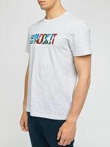 Tee-shirt imprimé poitrine coton issu de l'agricul