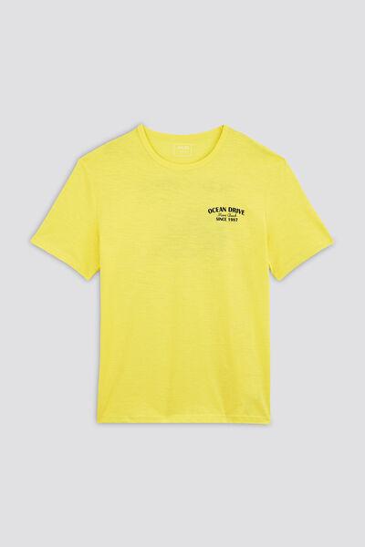 Tee-shirt print dos et devant COOL FIT coton issu