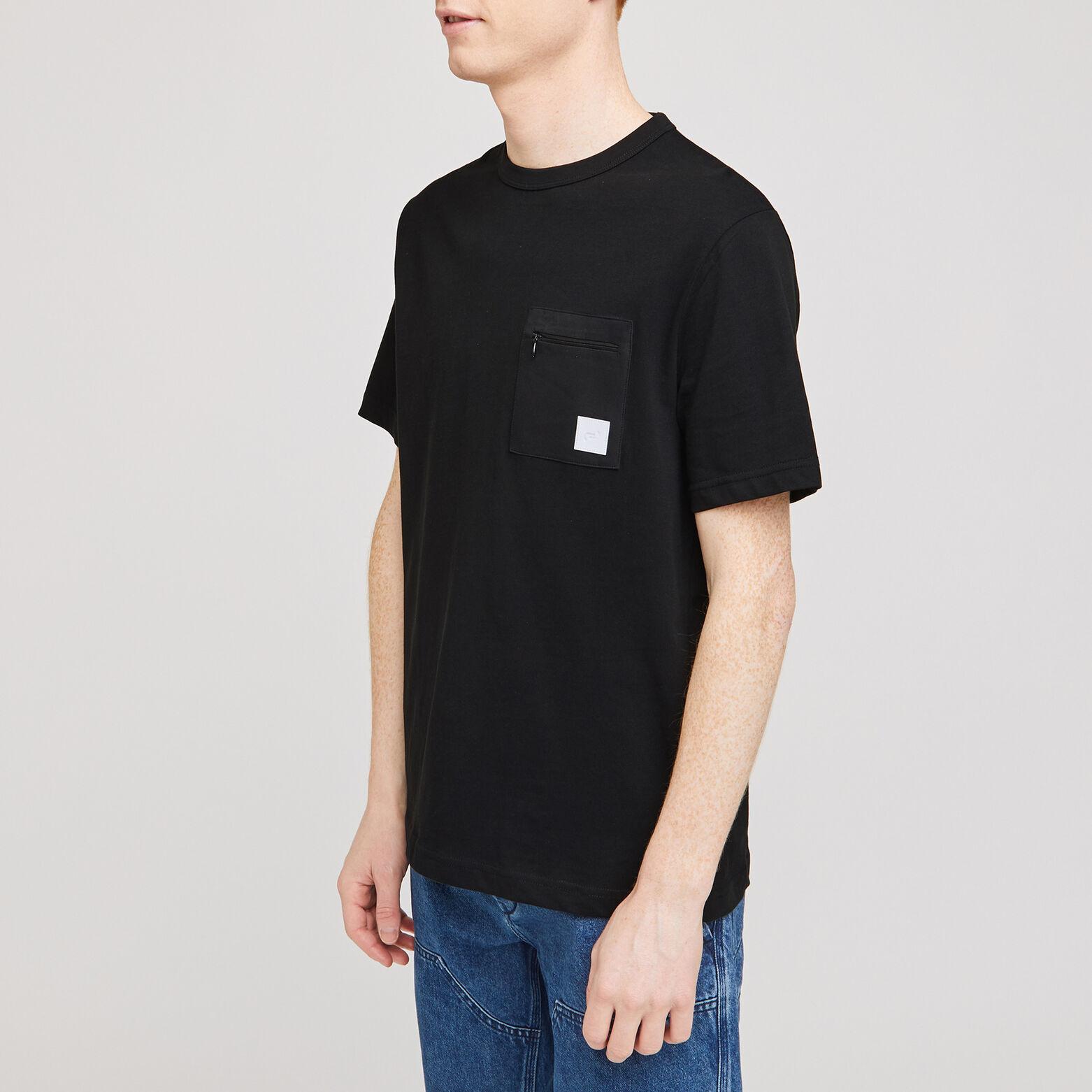 Tee-shirt poche nylon zippée