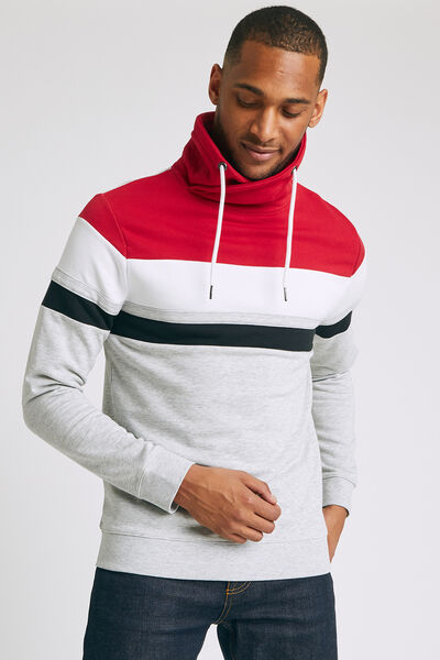 Sweat colorblock col snood