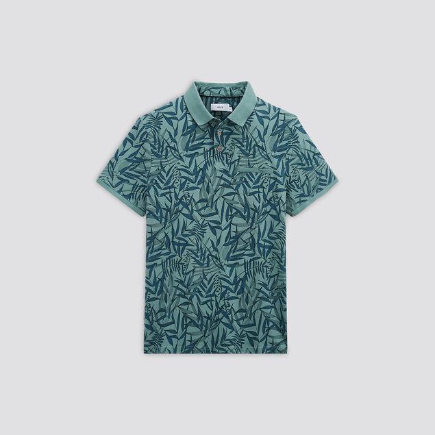 Polo manches courtes  imprimé tropical