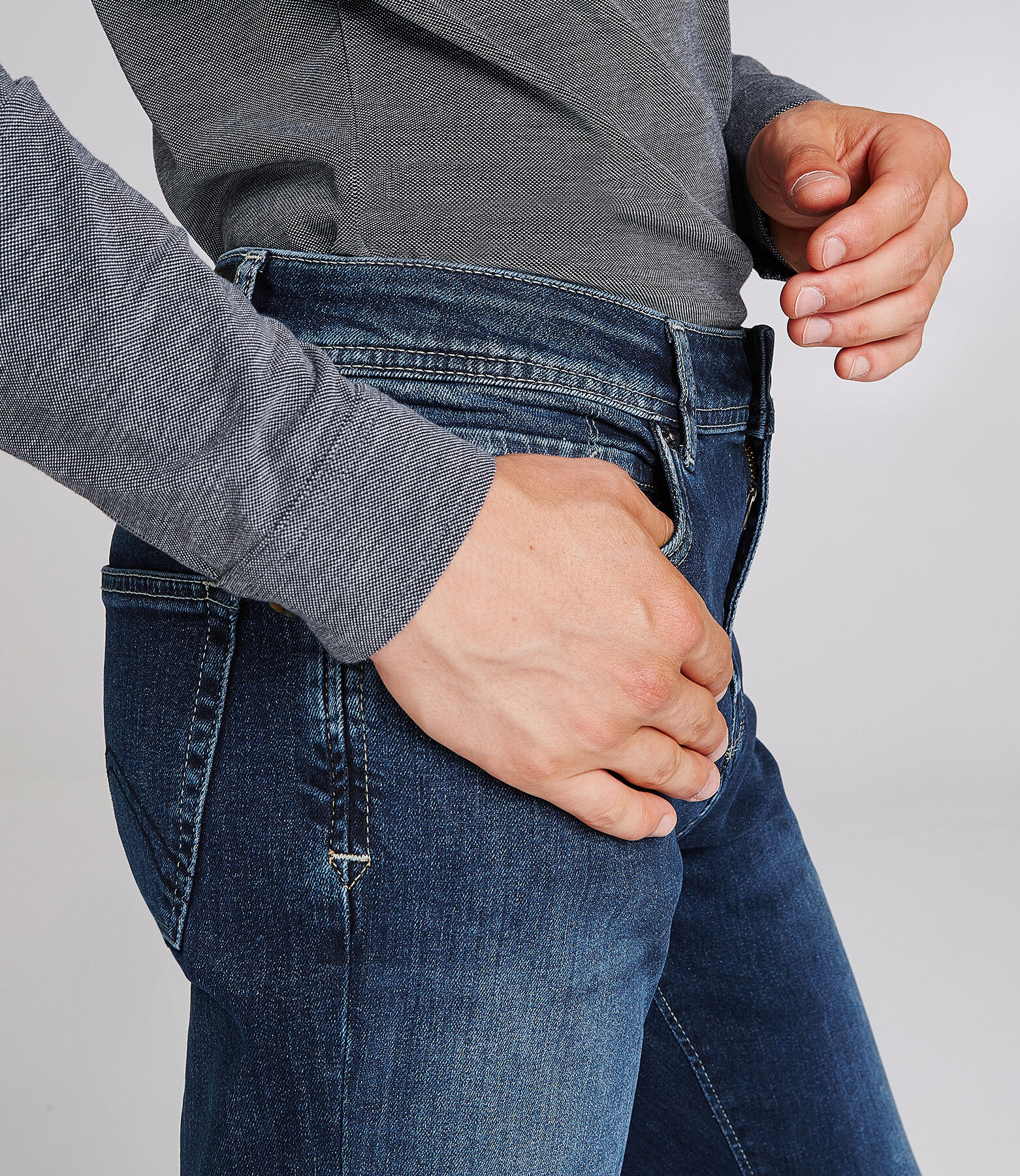 Regular jeans, donkerblauw