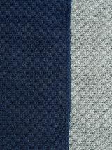 Driekleurige sjaal in tricot