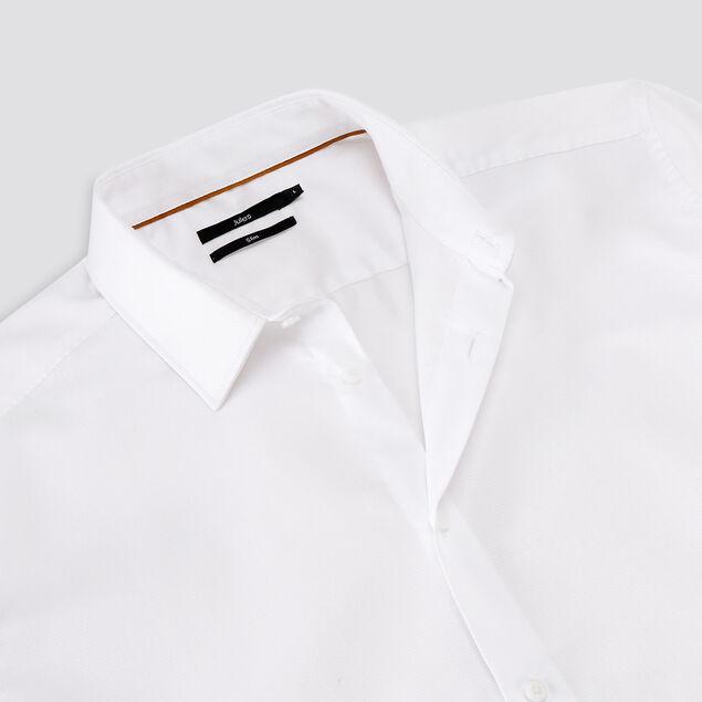 Chemise slim unie stay white stay black coton