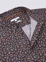 Chemise regular motif géométrique coton