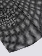 Chemise slim imprimé micro-motif géométrique  coto