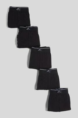 Lot de 5 boxers unis noir
