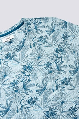 T-shirt print feuillage all over