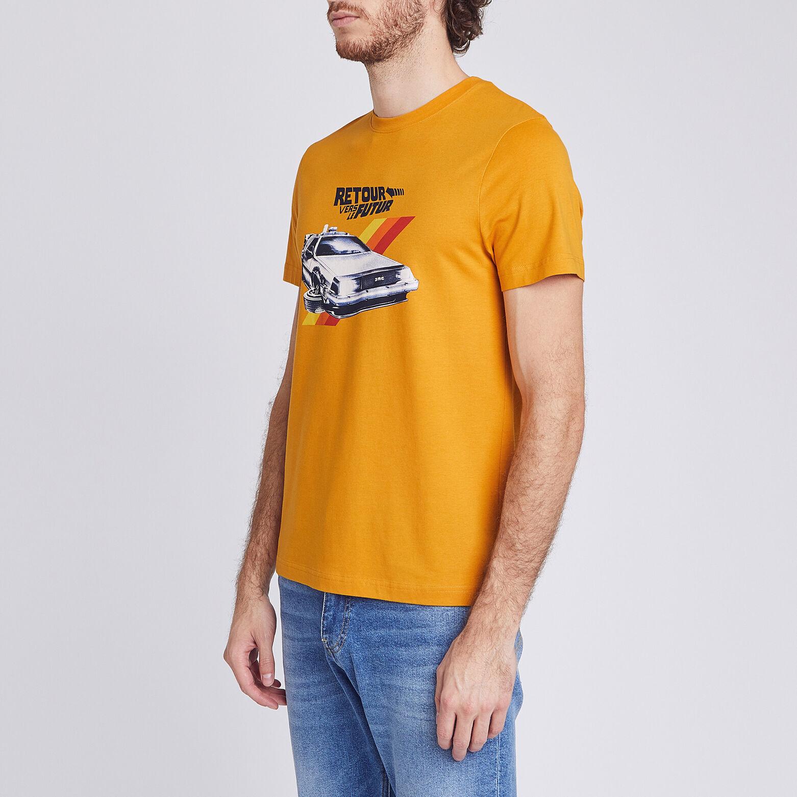 Tee shirt col rond Imprimé  Retour Vers Le  Futur.