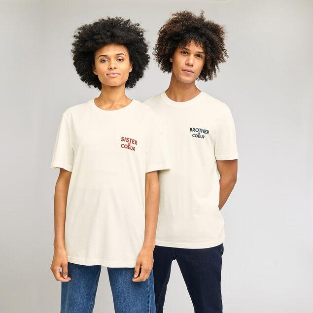 Tee-shirt imprimé SISTER DE COEUR
