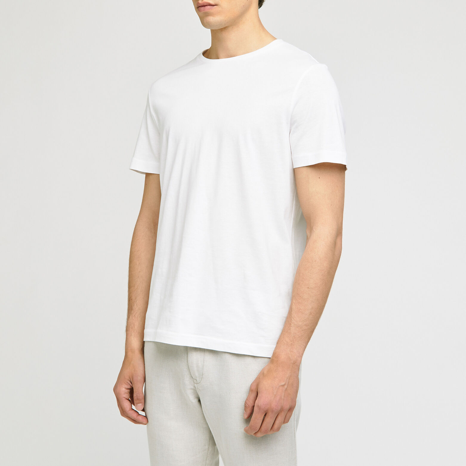 Tee-shirt basique col rond coton issu de l'agricul