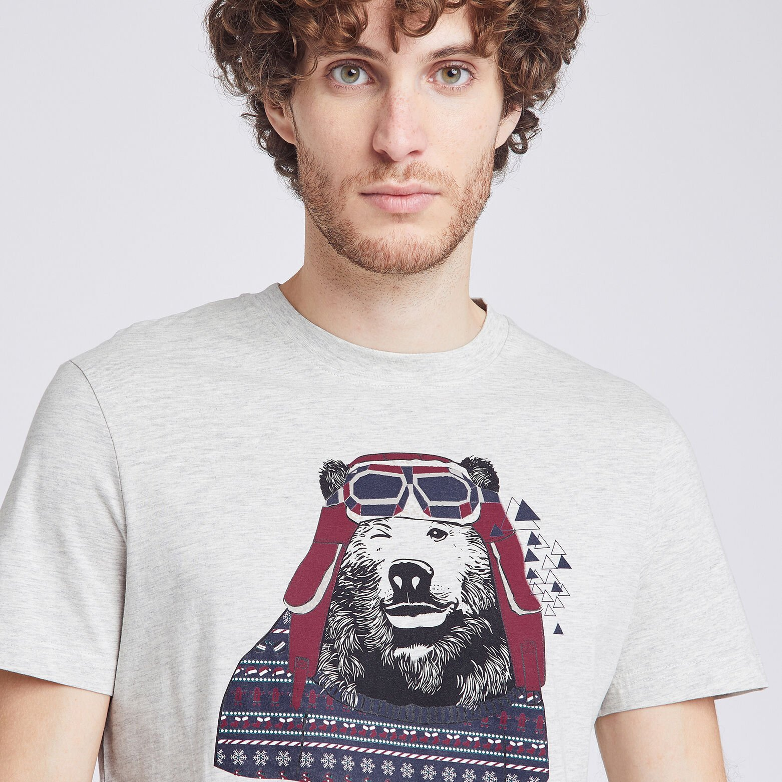 Tee shirt col rond animal