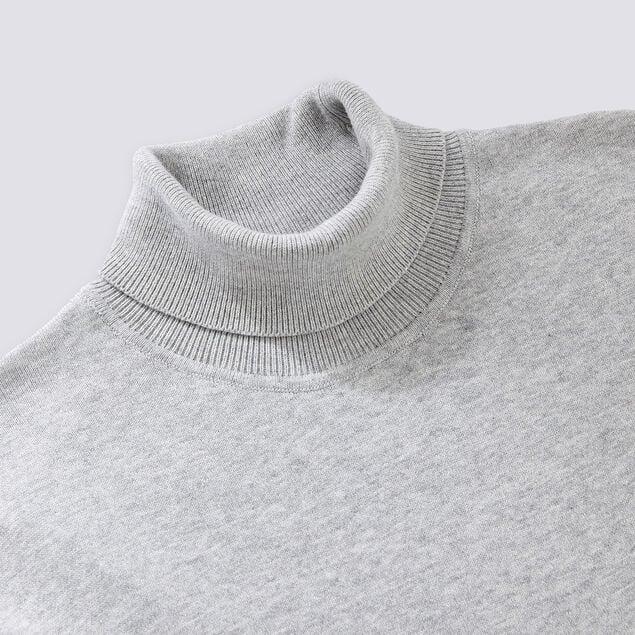Pull col roulé coton