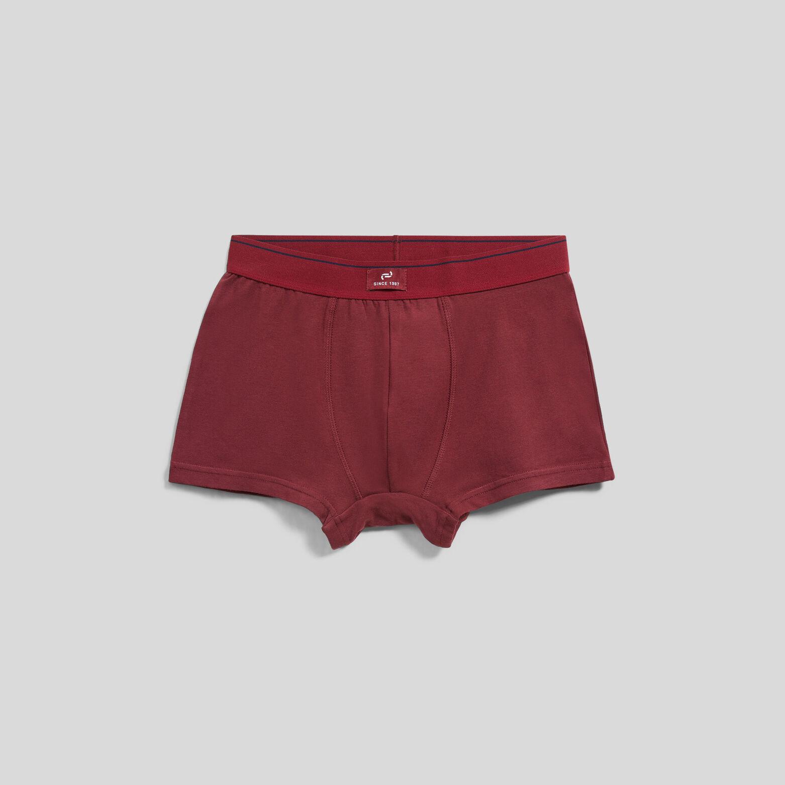 Lot de 5 boxers unis colorés coton issu de l'agric