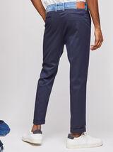 Pantalon à pince upcyclé avec ceinture en denim