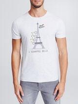 Tee-shirt licence tour de France avec print tour e