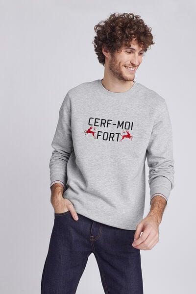 Sweat Noël homme  CERF-MOI FORT
