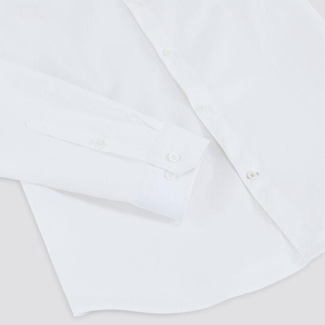 Chemise slim unie col mao coton biologique